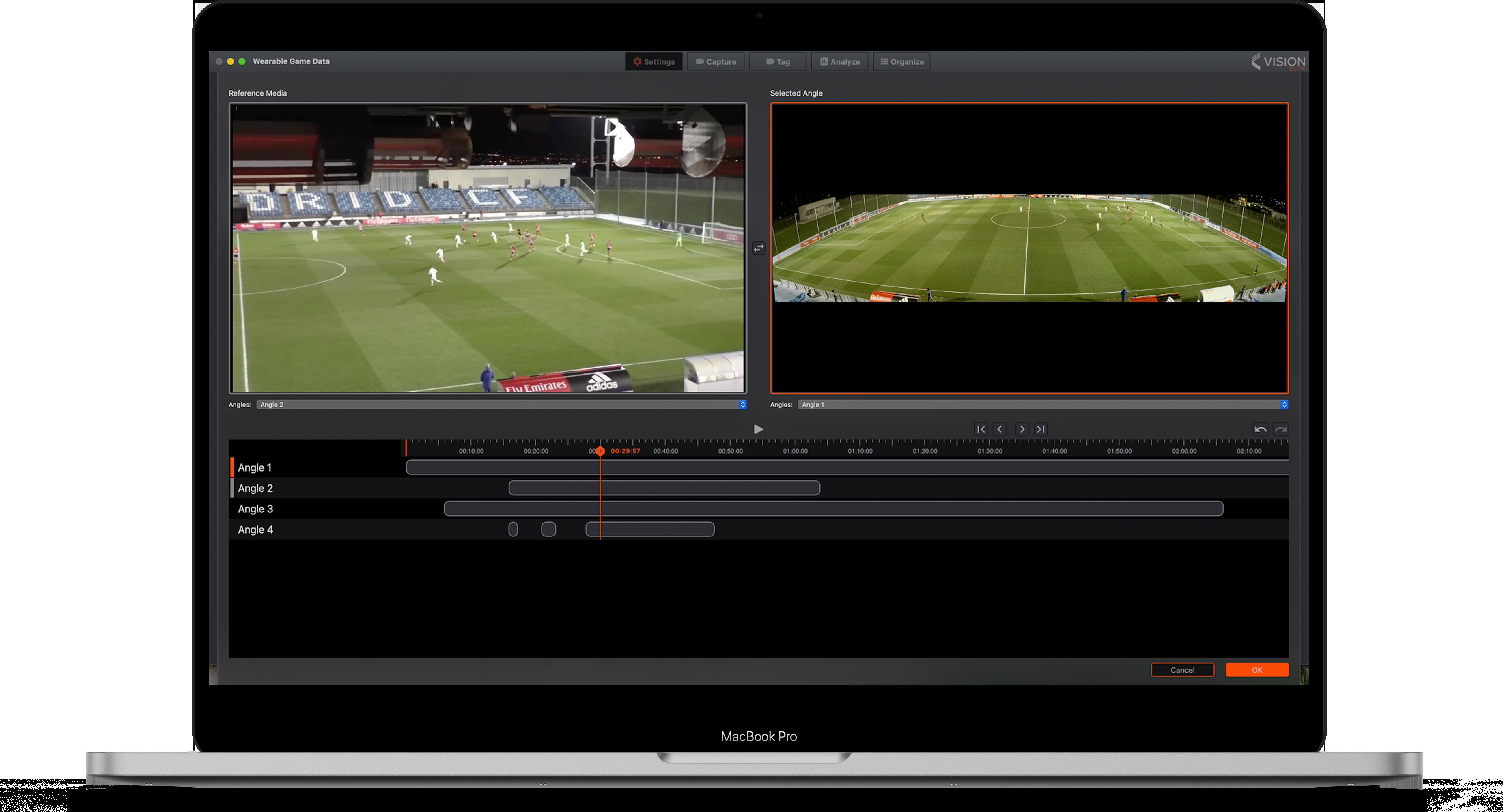 Vision: Capture en direct multi-angles - Football